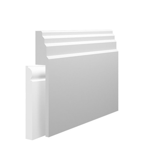 Stepped 1 MDF Skirting Board Cover over existing skirting