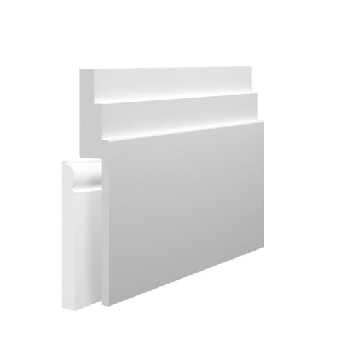 Stepped 2 MDF Skirting Board Cover over existing skirting