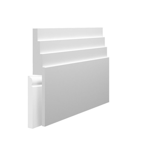 Stepped 4 MDF Skirting Board Cover over existing skirting