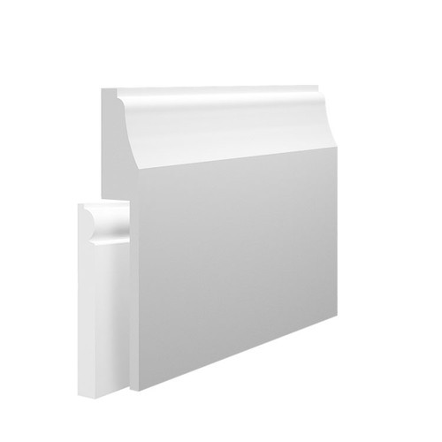 Wave 1 MDF Skirting Board Cover over existing skirting
