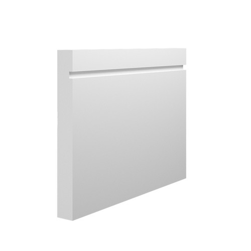 Grooved 1 Square MDF Skirting Board - 150mm x 18mm HDF