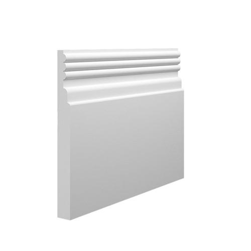 Reeded 3 MDF Skirting Board - 145mm x 15mm HDF