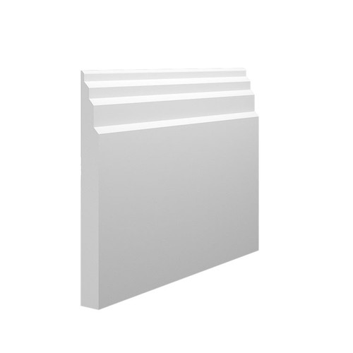 Stepped 1 MDF Skirting Board - 145mm x 15mm HDF