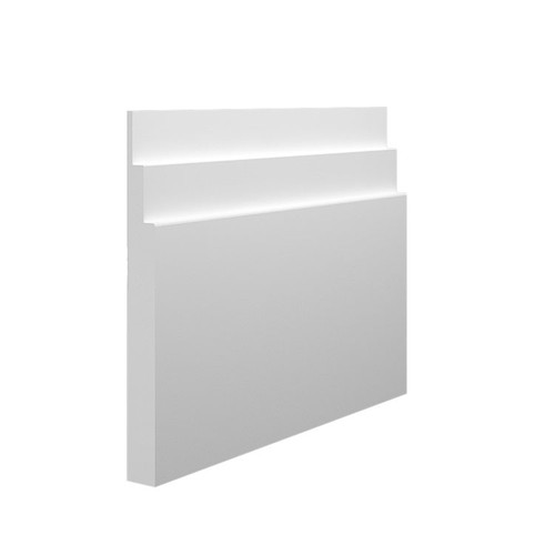 Stepped 2 MDF Skirting Board - 145mm x 15mm HDF
