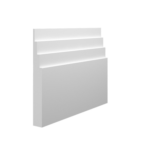Stepped 4 MDF Skirting Board in 18mm HDF