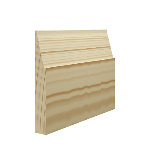Large Gradient Pine Skirting Board - 144mm x 21mm