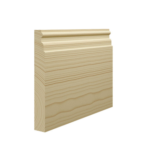 Reeded 1 Pine Skirting Board - 144mm x 21mm