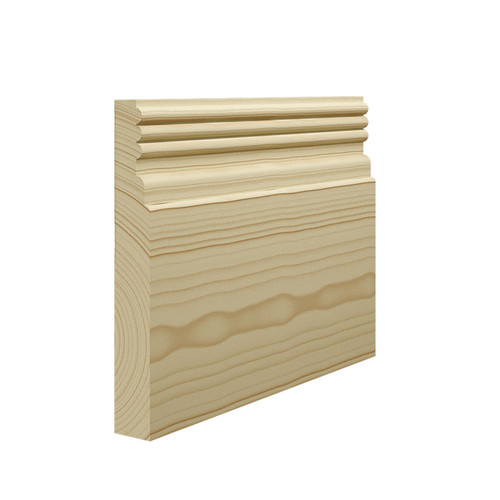 Reeded 3 Pine Skirting Board - 144mm x 21mm