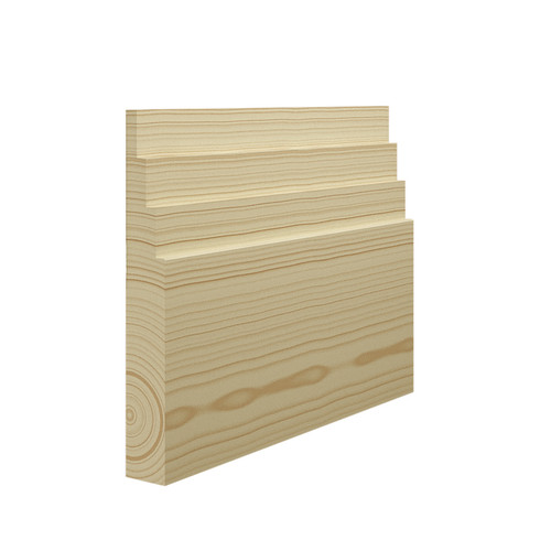 Stepped 4 Pine Skirting Board in 21mm Thickness