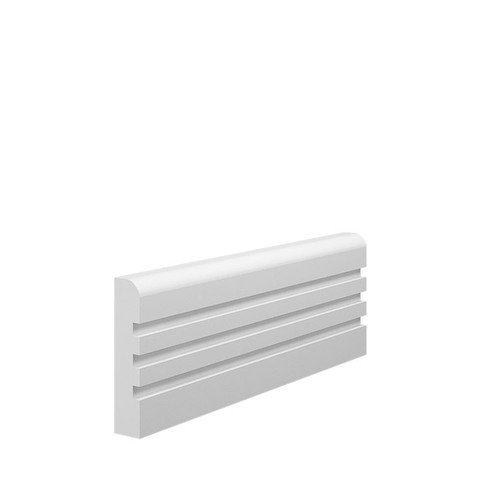 Grooved 3 Bullnose MDF Architrave - 70mm x 15mm HDF