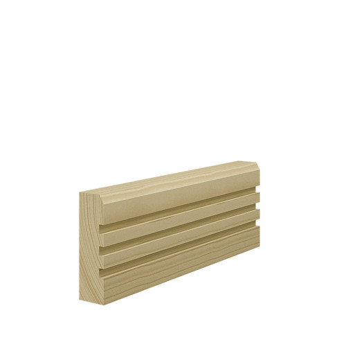 Grooved 3 Chamfered Pine Architrave - 69mm x 21mm