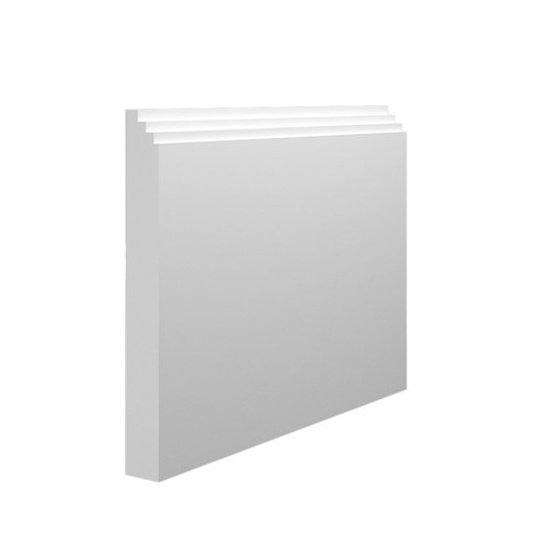 Mini Stepped MDF Skirting Board Sample - 145mm x 18mm HDF