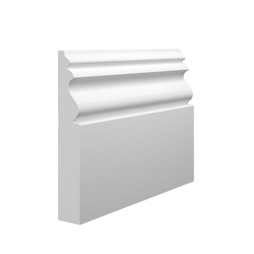 Monza MDF Skirting Board Sample - 145mm x 25mm HDF