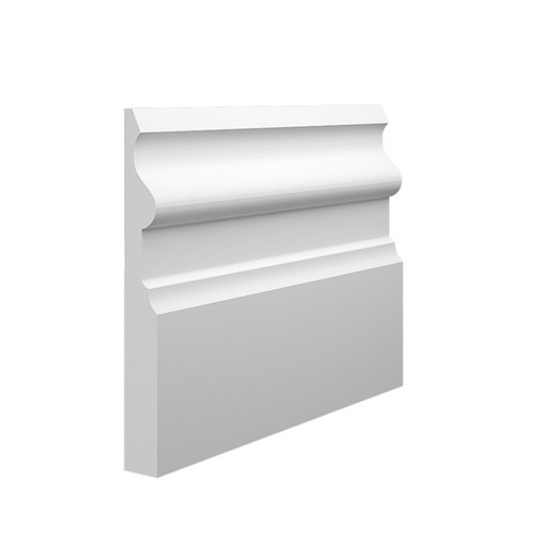 Noble 1 MDF Skirting Board Sample - 145mm x 18mm HDF