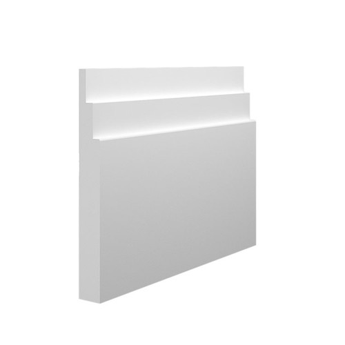 Stepped 2 MDF Skirting Board Sample - 145mm x 18mm HDF