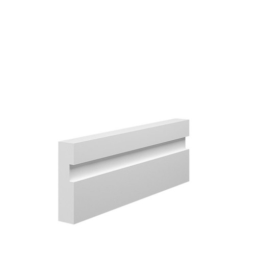 15mm Grooved MDF Architrave Sample in 70mm x 18mm HDF