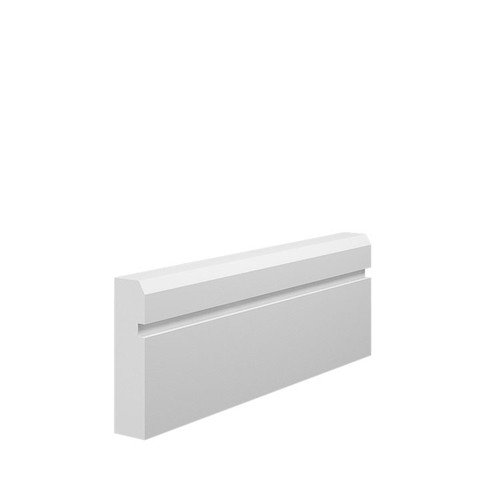 Grooved 1 Chamfered MDF Architrave Sample - 70mm x 18mm HDF