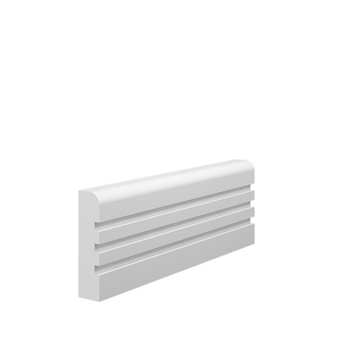 Grooved 3 Bullnose MDF Architrave Sample - 70mm x 18mm HDF