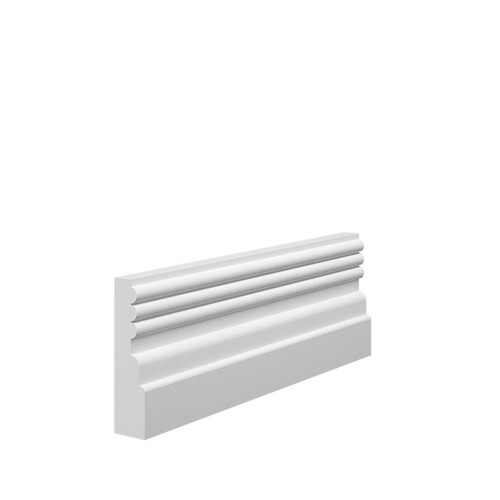 Reeded 3 MDF Architrave Sample - 70mm x 18mm HDF