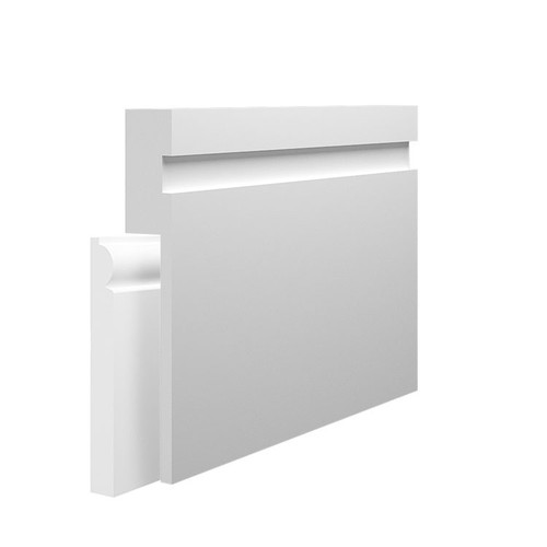 15mm Grooved MDF Skirting Board Cover over existing skirting
