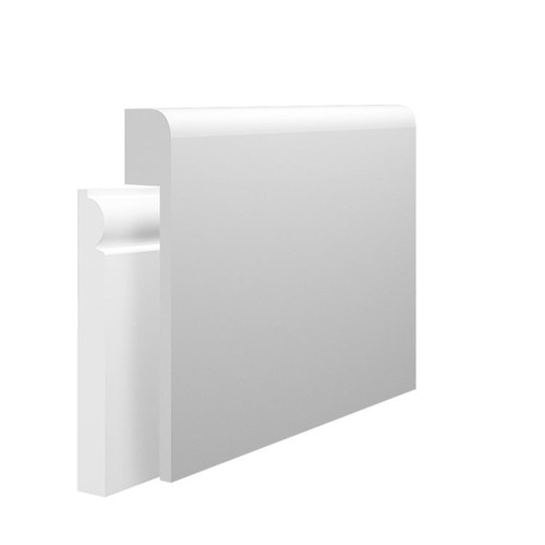 Bullnose MDF Skirting Board Cover over existing skirting