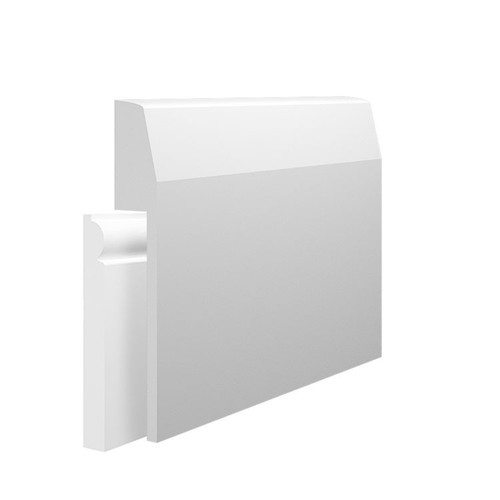 Chamfer Round MDF Skirting Board Cover over existing skirting