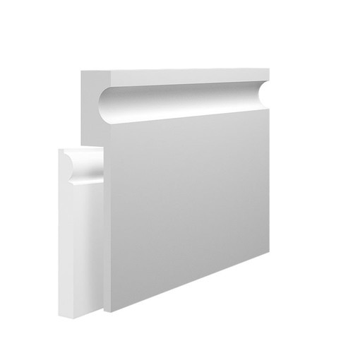 Contemporary MDF Skirting Board Cover over existing skirting