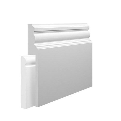 Edwardian MDF Skirting Board Cover over existing skirting