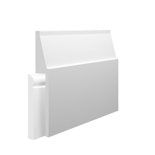 Large Gradient MDF Skirting Board Cover over existing skirting