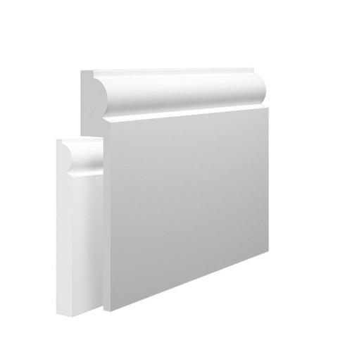 Mini Torus MDF Skirting Board Cover over existing skirting