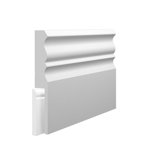 Profile 3 MDF Skirting Board Cover over existing skirting