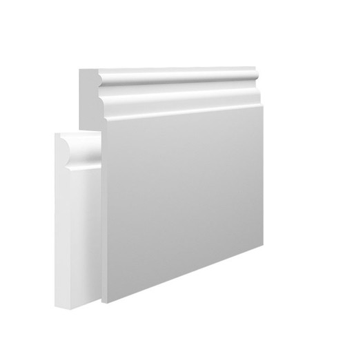 Reeded 1 MDF Skirting Board Cover over existing skirting
