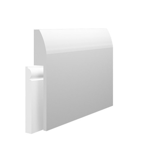 Rounded MDF Skirting Board Cover over existing skirting