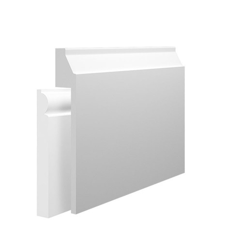 Small Gradient MDF Skirting Board Cover over existing skirting