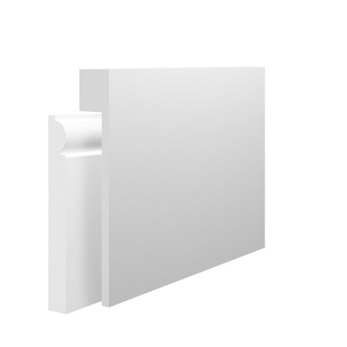 Square MDF Skirting Board Cover over existing skirting