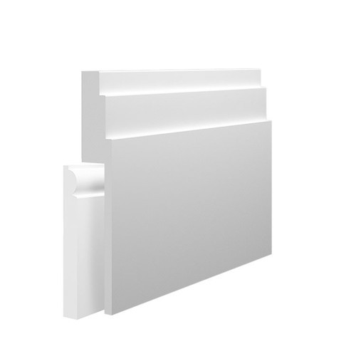 Stepped 3 MDF Skirting Board Cover over existing skirting