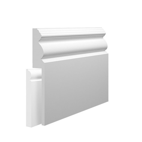 Victorian 1 MDF Skirting Board Cover over existing skirting