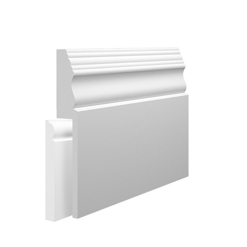 Victorian 2 MDF Skirting Board Cover over existing skirting