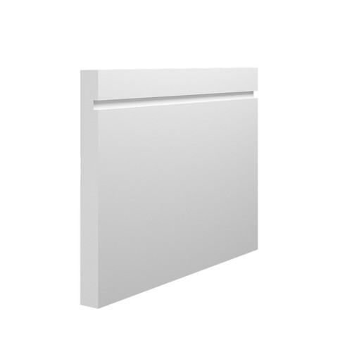 Grooved 1 Square MDF Skirting Board - 150mm x 15mm HDF