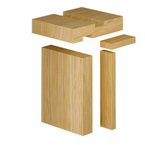 Pine Internal Door Frame Set With Plant On Slamming Strips - 28mm Thickness