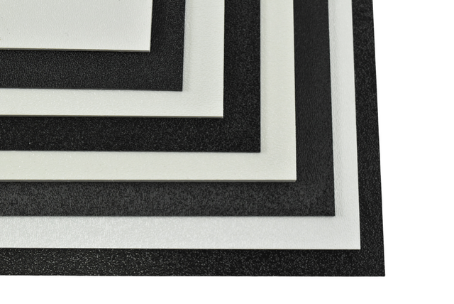 ABS (Haircell Texture) Plastic Sheet, Various Sizes, Colors and Thicknesses