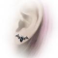 Black Bat Crystal Earrings
