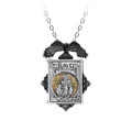 the raven's locket in fine english pewter