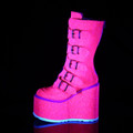 I Heart Pink Glitter Boots