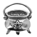 Cauldron pewter  necklace
