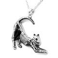 Yoga Cat Skeleton necklace