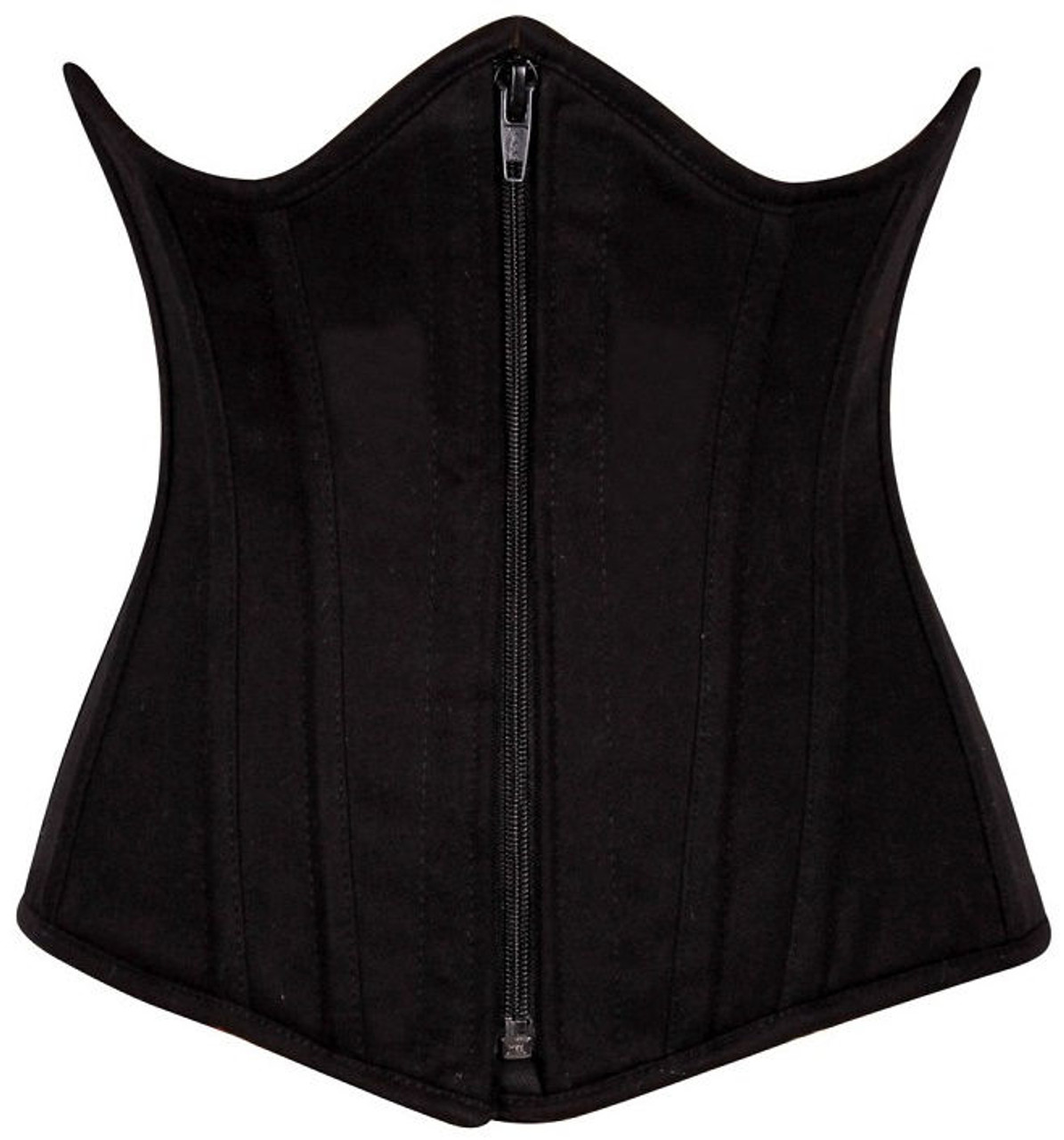 842b601f00 Black cotton Steel Boned underbust Corset