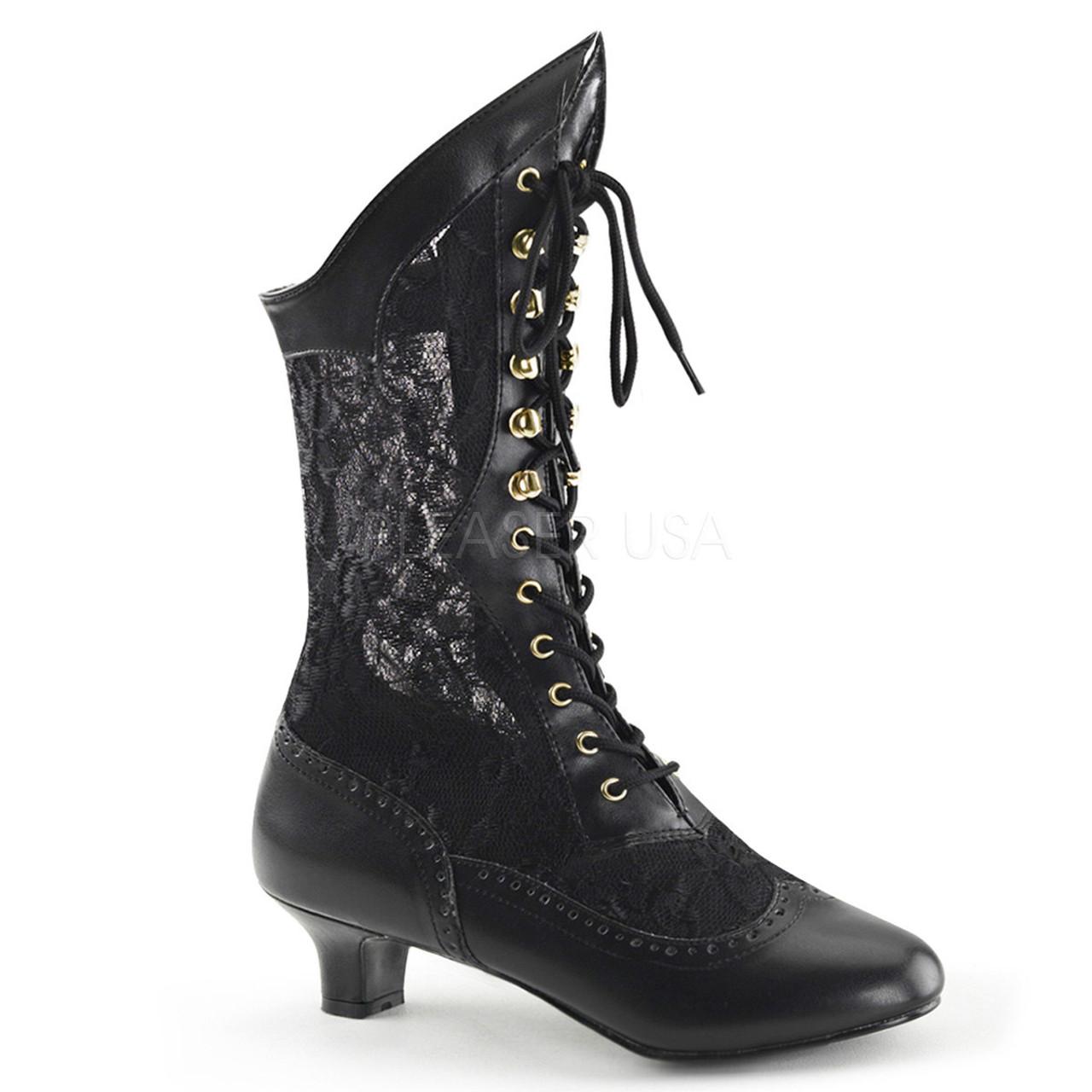 f4d908296c1 Dame Black Victorian Lace Boots