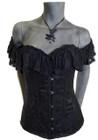 Belle's Angel Black Corset