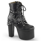 i Heart spikes vegan leather ankle boots